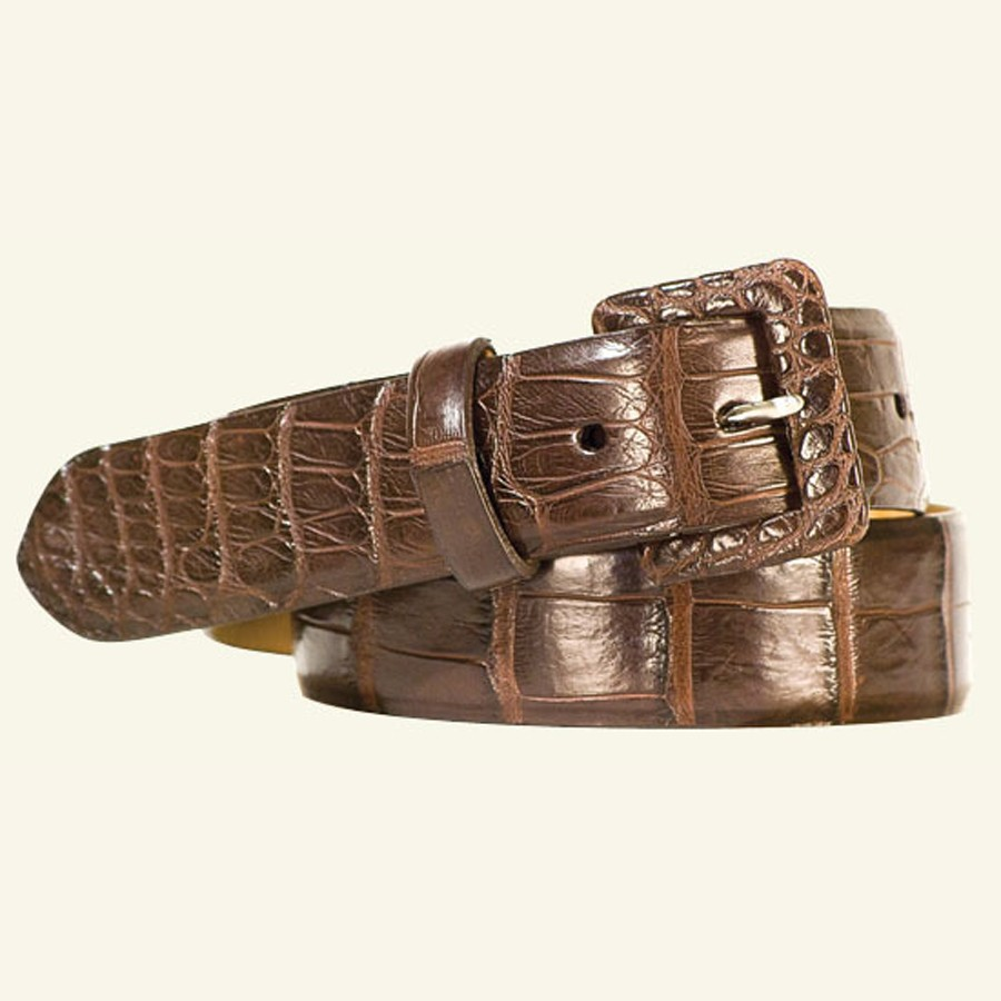 "1½"" Women's Matte Alligator Belt"