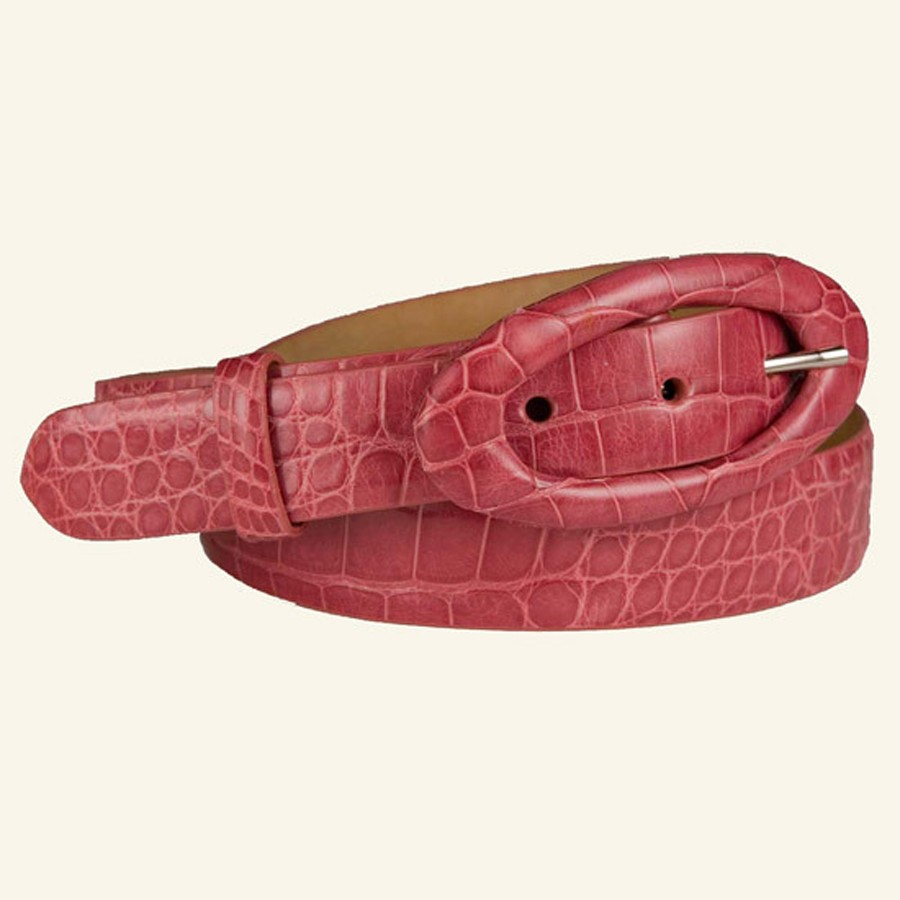 "1⅛"" Glazed Alligator Belt"