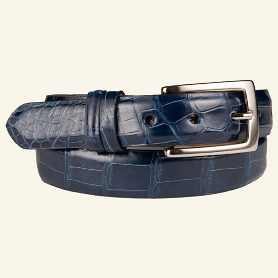 "1⅛"" Women's Glazed Alligator Belt"