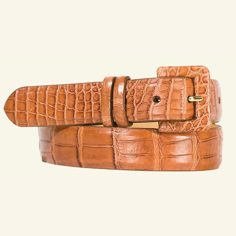 "1⅛"" Matte Alligator Belt With Covered Buckle"