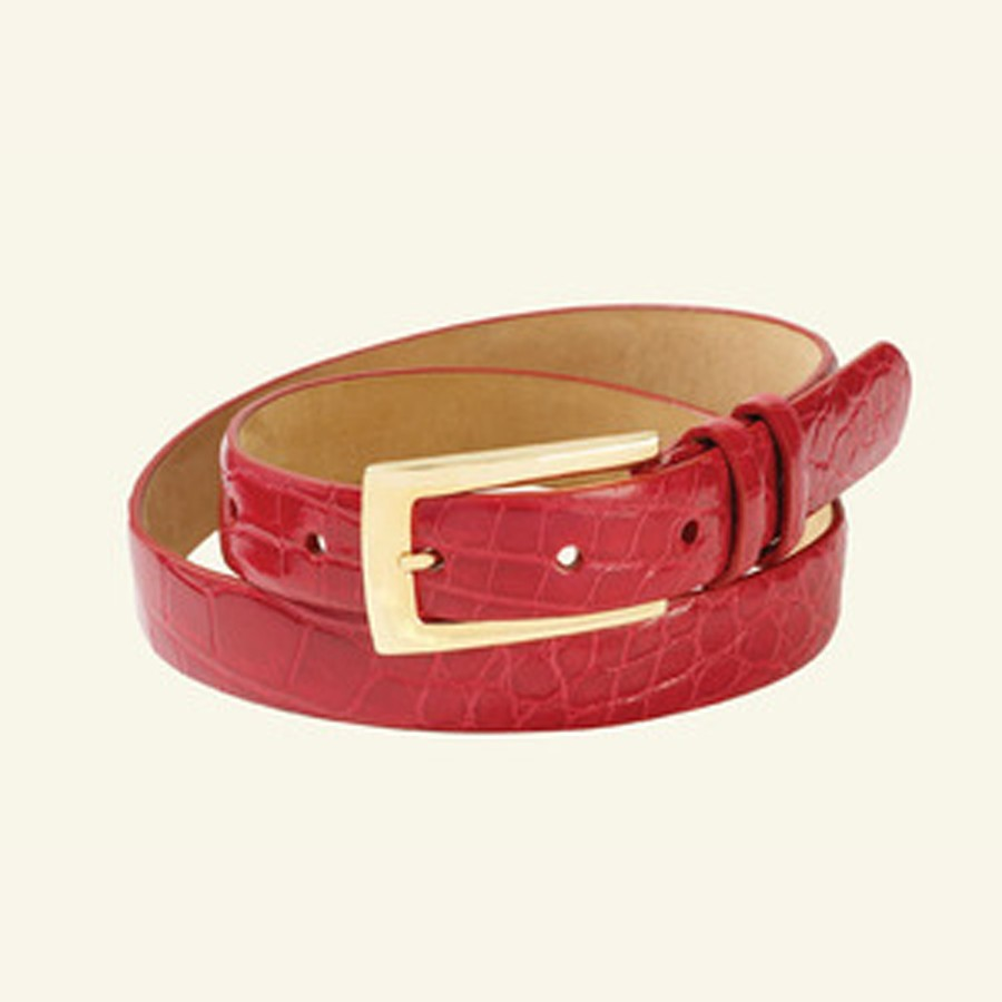 "1"" Women's Glazed Alligator Belt"