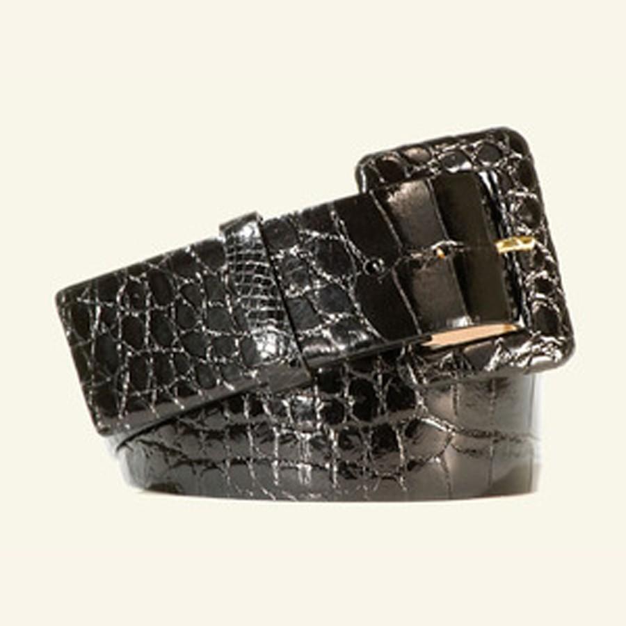 """2"""" Women's Glazed Alligator Belt"""