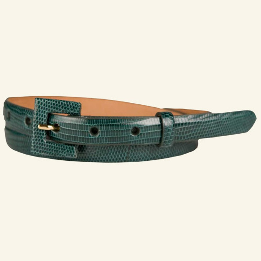 """¾"""" Lizard Belt With Covered Buckle"""