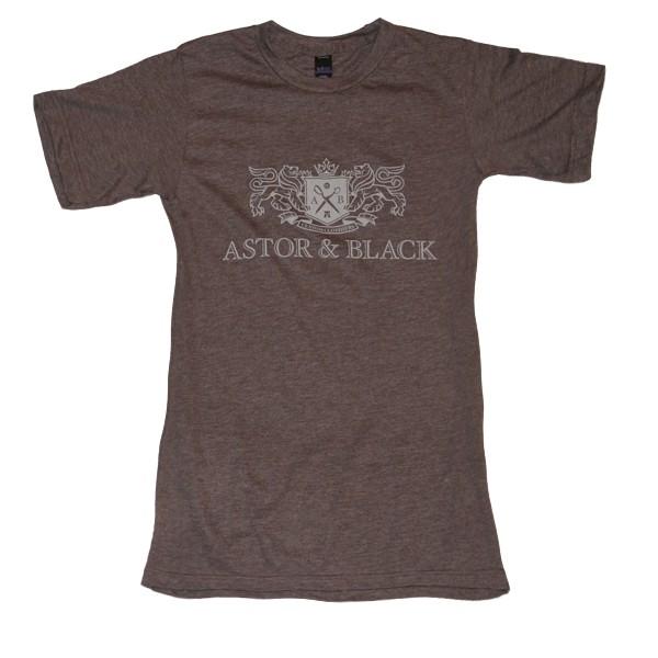 Astor & Black White on Brown Crew