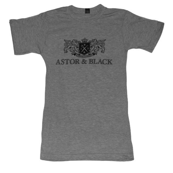Astor & Black Black on Grey Crew