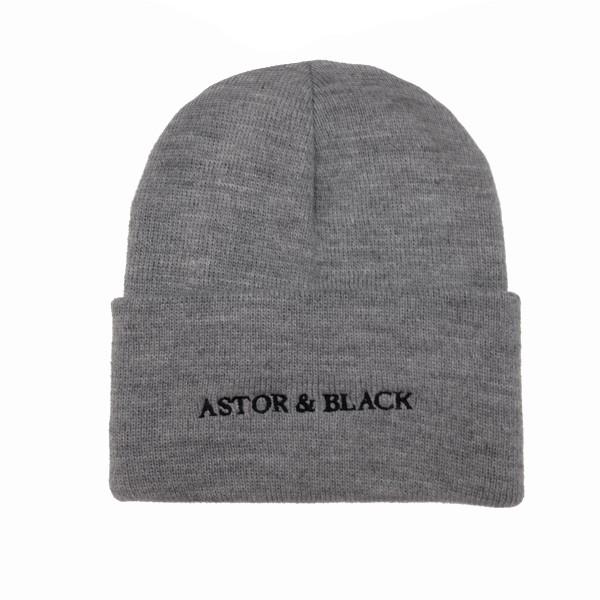 Astor & Black Grey Knit Hat