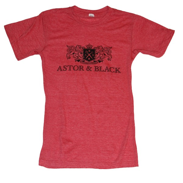 Astor & Black Black on Red Crew