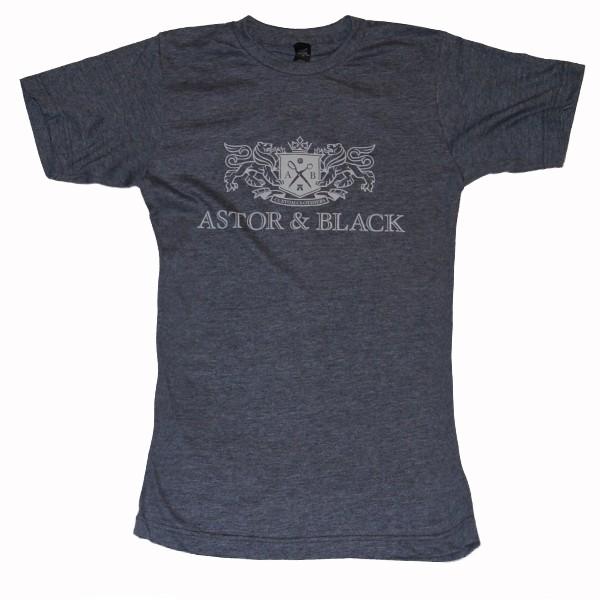 Astor & Black White on Grey Crew
