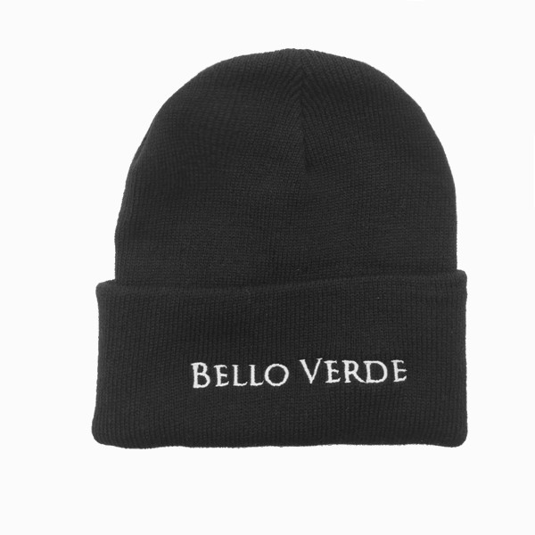 Bello Verde Black Knit Hat