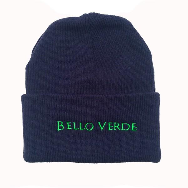 Bello Verde Navy Knit Hat