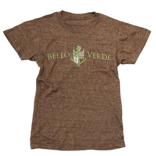 Bello Verde Green on Brown Crew