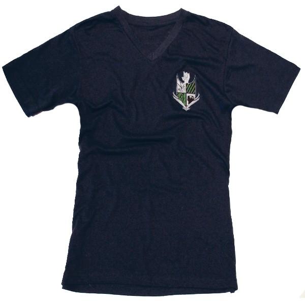 Bello Verde White Shield on Blue V-Neck