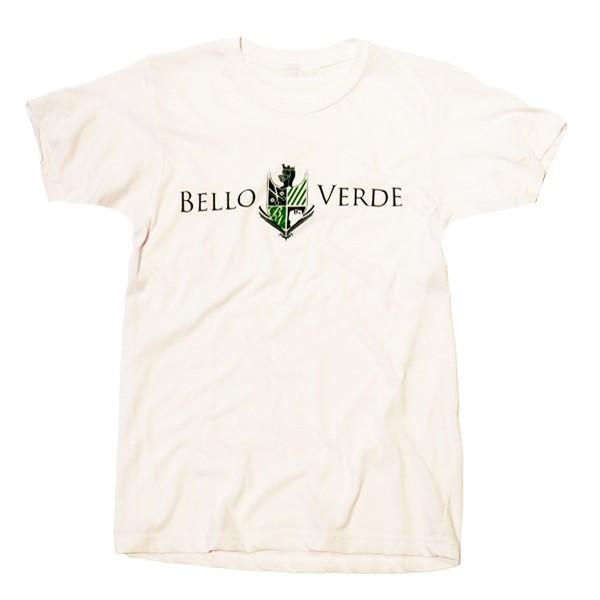 Bello Verde Green on White Crew