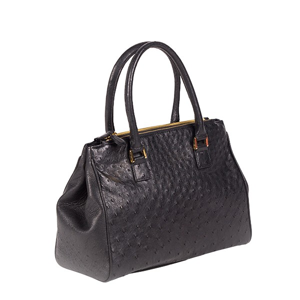 Bella Ostrich Handbag