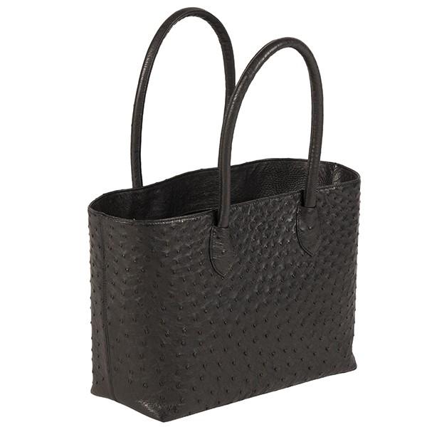Talia Ostrich Tote Bag