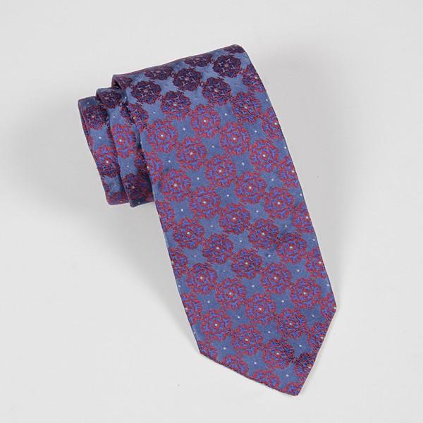 Blue & Red Jacquard Tie