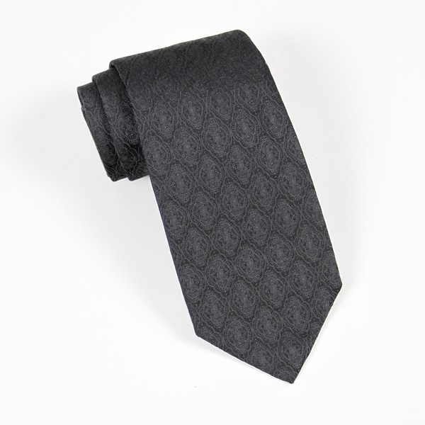 Black Tone on Tone Jacquard Tie