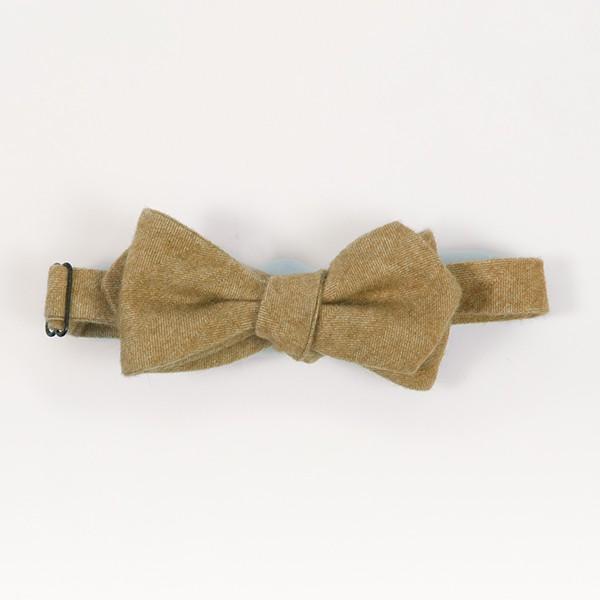 Camel Cashmere Diamond Point Bow Tie
