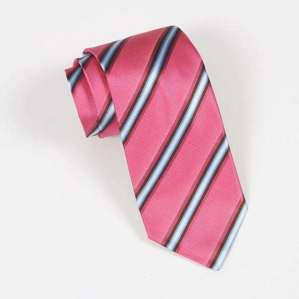 Pink/Blue Stripe Tie