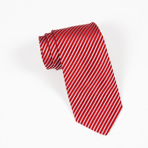 Red/Light Blue Stripe Tie