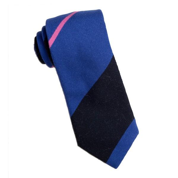 Blue/Black/Pink Repp Stripe Tie