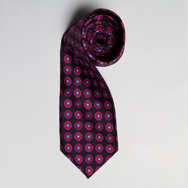 Black/Berry Medallion Tie