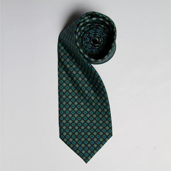 Green/Blue/Lavender Floral Medallion Tie