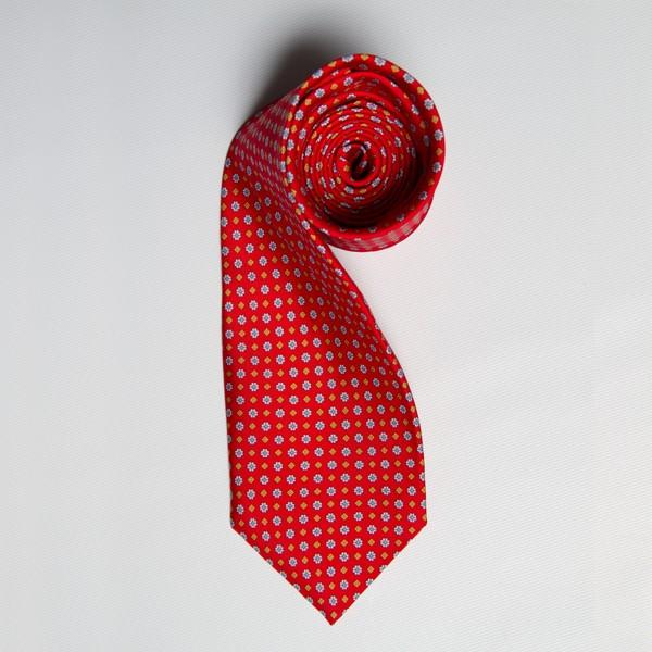 Red/Orange Floral Print Tie