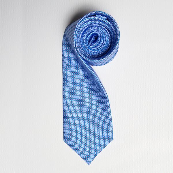 Light Blue/Blue Tiny Squares Skinny Tie
