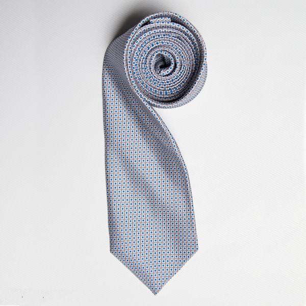 Grey/Blue Tiny Squares Skinny Tie