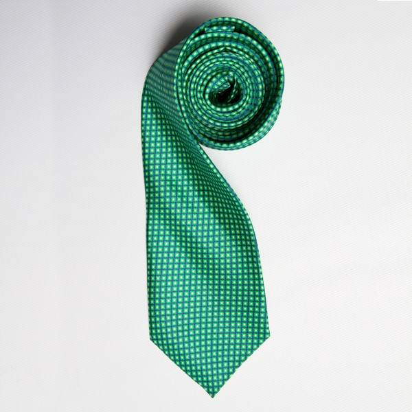 Green/Lime Tiny Squares Skinny Tie