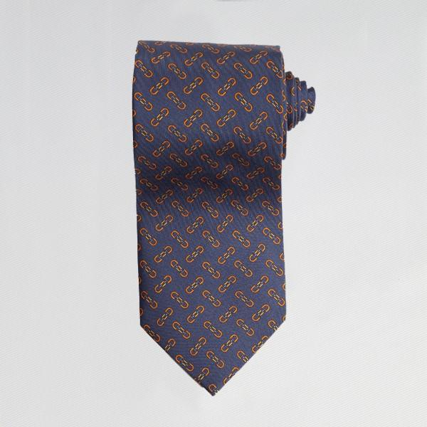 Navy English Bit Tie