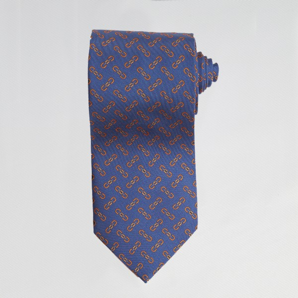 Blue English Bit Tie