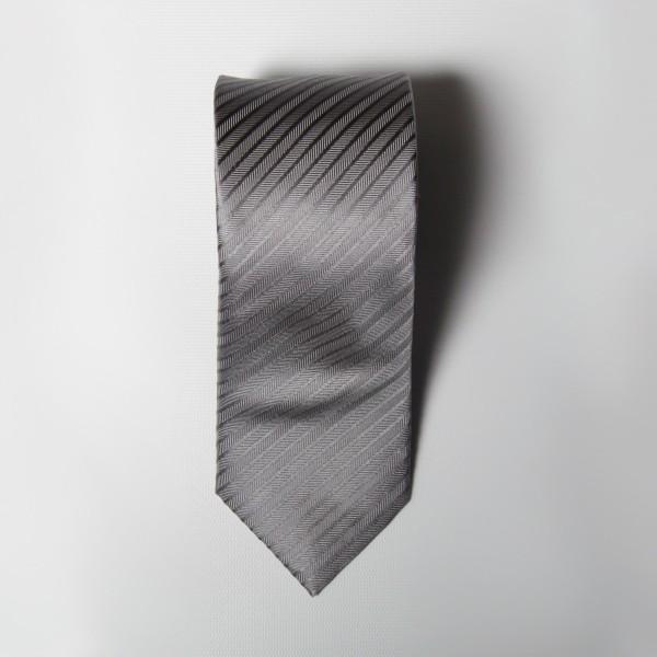 Silver Herringbone Tie
