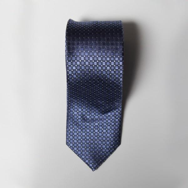 Light Blue Box Check Tie