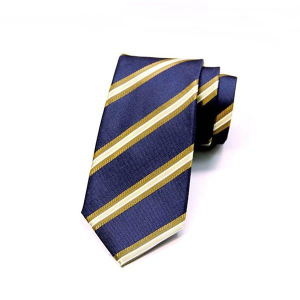 Navy/Tan Stripe Tie