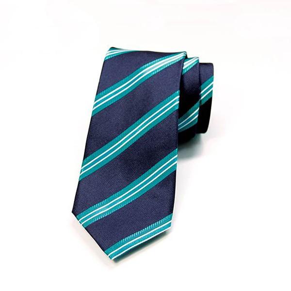 Navy/Teal Stripe Tie