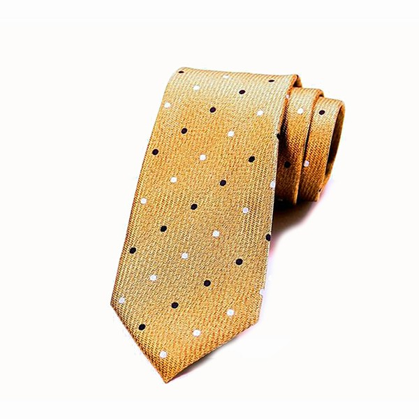 Yellow Polka Dot Tie