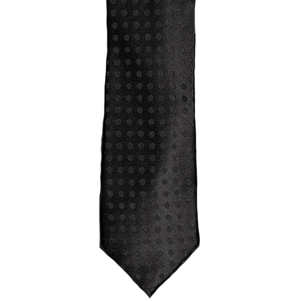 Black Tonal Circle Dot Tie
