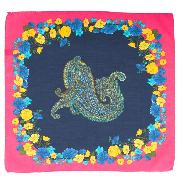 Floral Paisley Pocket Square
