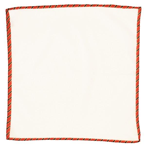 Cotton w/ Stripe Trim Pocket Square