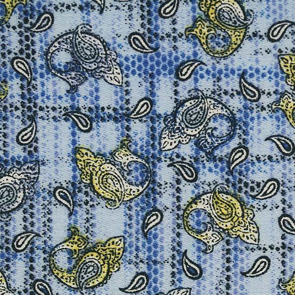 Blue/Yellow Paisley Print (SV 514120-200)