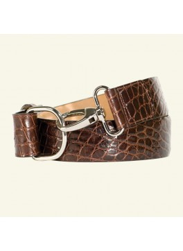 "1½"" Glazed Alligator Belt"