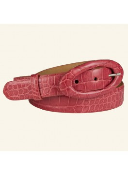 "1⅛"" Glazed Alligator Belt"