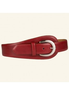 "2½"" Glazed Calf Tapered Tab Belt"