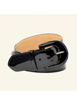 "2"" Contour Patent Leather Belt"