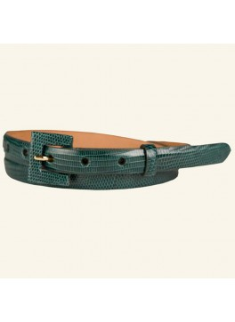 "¾"" Lizard Belt With Covered Buckle"