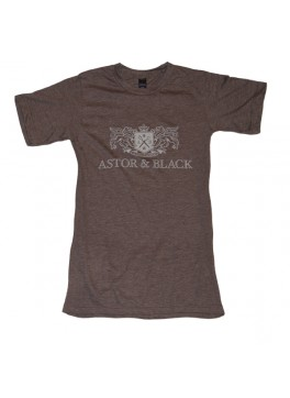 Astor & Black White on Brown Crew