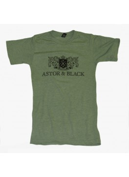Astor & Black Black on Green Crew