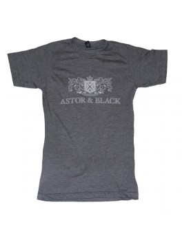 Astor & Black White on Grey Crew